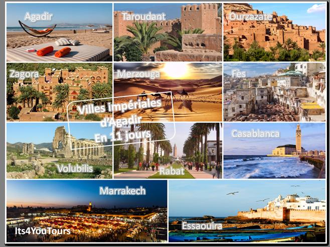 Circuit Villes Impériales d'Agadir - 11 jours