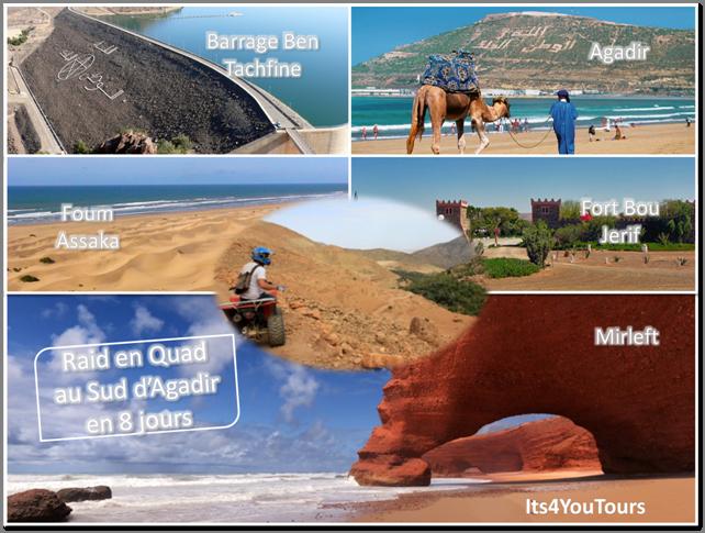 Raid en Quad au Sud d'Agadir - 8 jours