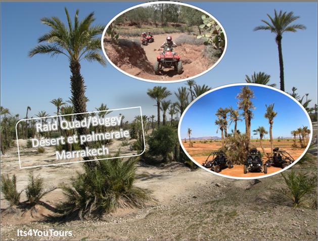 Excursion en Quad buggy dans la Palmeraie et le Désert de Marrakech