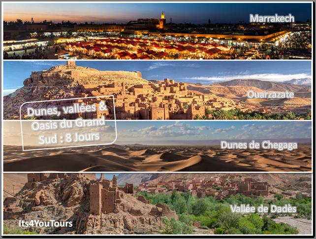 Oasis, vallées et dunes du Grand Sud Marocain en 4x4 au départ Marrakech - 8 jours