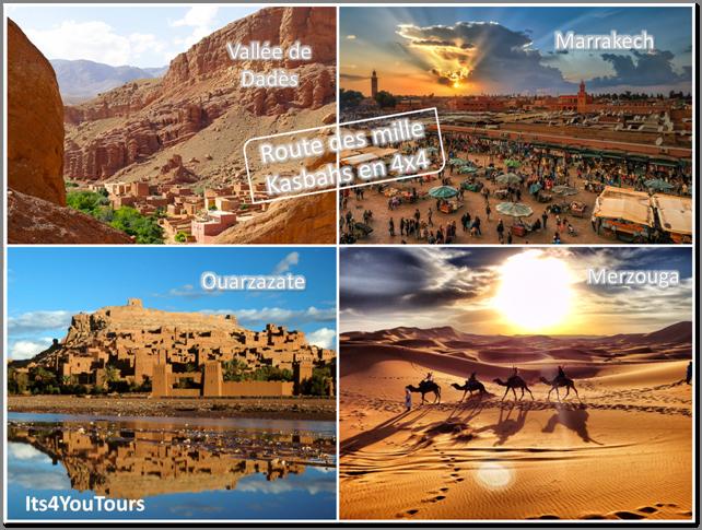 La route des mille Kasbahs et les dunes de Merzouga en 4x4 au départ Marrakech - 4 jours