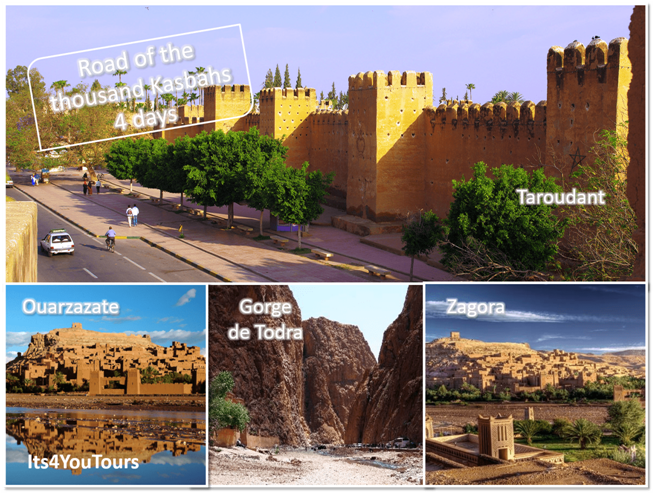 Désert Marocain et la route de mille Kasbahs en 4x4 au départ Agadir en 4 jours