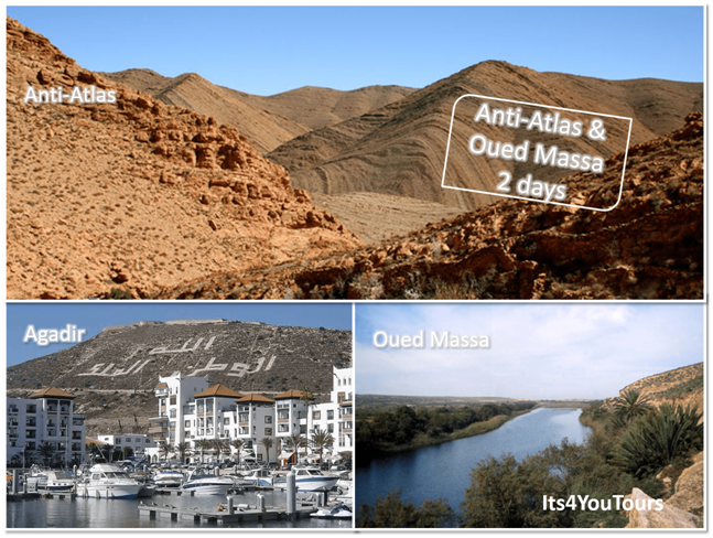 4x4 tour from Agadir to Anti-Atlas & Massa oasis in 2 days