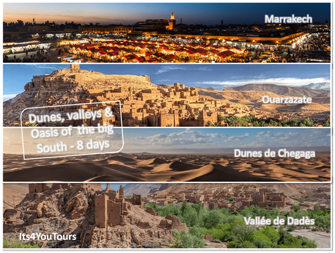 Oasis, valleys and dunes of the Big South of Morocco 4x4 in 8 days - Marrakesh