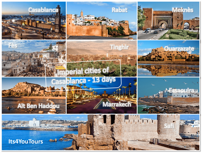 Casablanca Imperial Cities Tours in 13 days