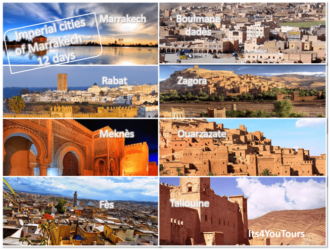 Tours Imperial Cities of Marrakech in 12 days