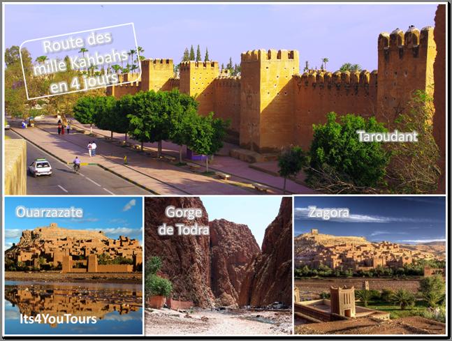 Désert Marocain et route des mille Kasbahs en 4x4 au départ Agadir - 4 jours
